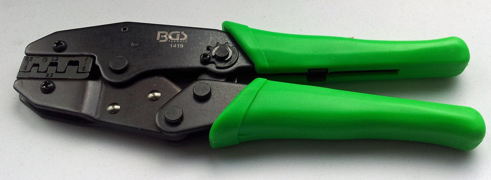 Kabelschuhzange mit Ratschenfunktion 0,5-6 mm 1419 BGS