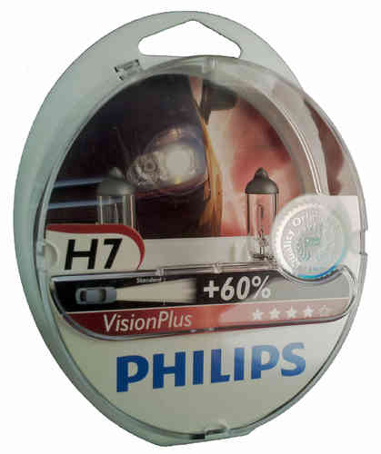 H7 PHILIPS Vision Plus +60% 12972VPS2
