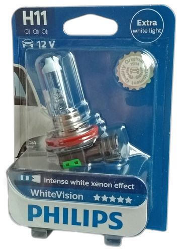 H11 PHILIPS White Vision 12362WHVB1