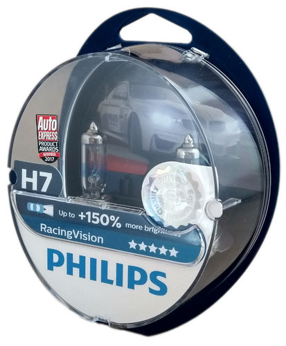 H7 PHILIPS Racing Vision +150% 12972RVS2