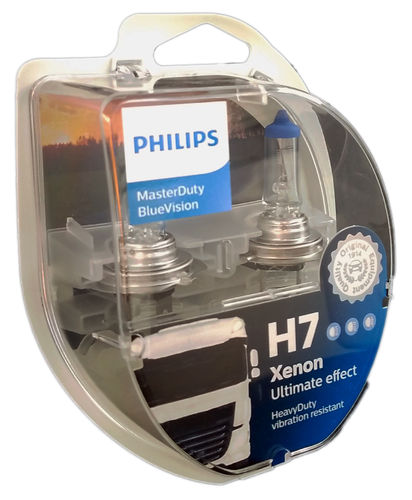H7 PHILIPS MasterDuty BlueVision 24V 2er Box
