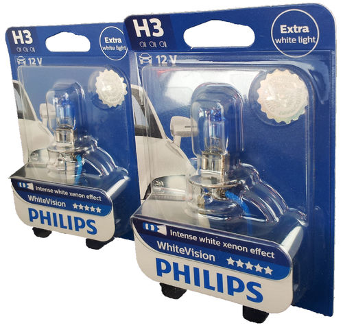 H3 PHILIPS White Vision 12336WHVB1 2er