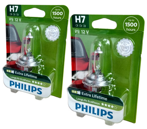 H7 PHILIPS LongLife Eco Vision 12972LLECOB1 2er